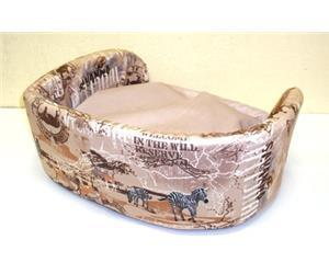 DOGMAN Лежак для собак Софа №1 Элегант бежевый Сафари 40х50х20см (фото, вид 2)