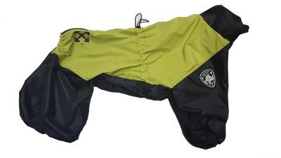 LifeDog Дождевик для больших пород собак, желтый/черный, размер 4XL, спина 55см (фото, вид 1)
