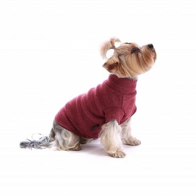"""P&D Джемпер для собак из шерсти """"Лапки"""" бордовый L, XL (фото, вид 1)"""
