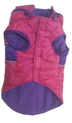 АНТ Жилет-попона для средних собак, розовый, размер S/M, спина 37см, флис (фото, вид 1)