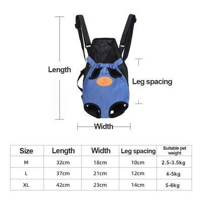 Al1 Рюкзак-переноска для собак джинса, размер XL (фото, вид 3)
