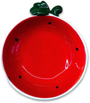 КерамикАрт Миска для собак и кошек керамическая Арбузик, 250мл (фото, вид 1)