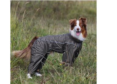 Osso Fashion Дождевик для крупных собак, модель для девочки, черный, спина 70см (фото, вид 1)