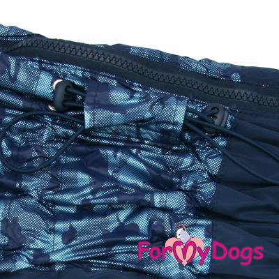 ForMyDogs Дождевик для крупных собак синий, модель для мальчиков, размер С2, С3, D1, D3 (фото, вид 1)