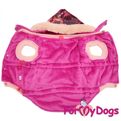 ForMyDogs Куртка для больших собак бордо, размер С2 (фото, вид 1)
