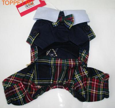 Puppia Костюм для собак в стиле Шотландка, цвет синий, S, х/б (фото, вид 1)