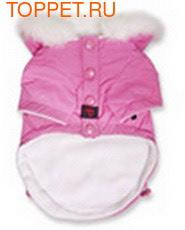 """Puppia Двухсторонний пуховик """"5"""", цвет розовый, размер L (фото, вид 1)"""