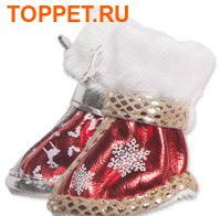 I's Pet Ботинки для собак зимние, цвет красный/золото, размер №3 (фото, вид 1)
