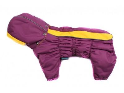 ZooAvtoritet Комбинезон для собак Дутик, фиолетовый/желтый, флис Мембрана, размер М, XL