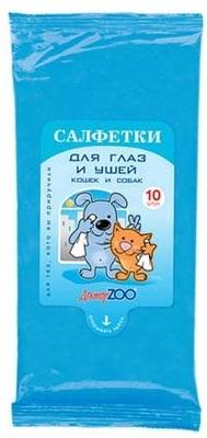 Доктор ЗОО Салфетки для глаз и ушей 10 шт. в упаковке