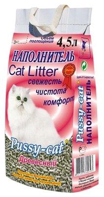 Pussy-cat Наполнитель для кошачьего туалета древесный