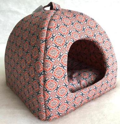 Бобровый дворик Домик лежак для кошек и маленьких собак Султан красный