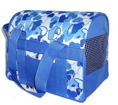 DOGMAN Сумка-переноска для кошек и собак Стандарт №1, голубой микс, размер 30х22х25,5см (фото)