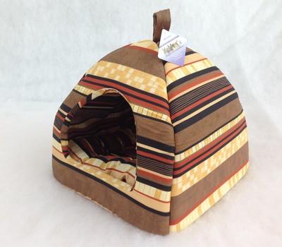 Бобровый дворик Домик лежак для кошек и маленьких собак Пестрая лента