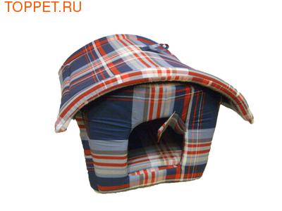 Бобровый дворик Лежак для собак Будка, шотландка синяя