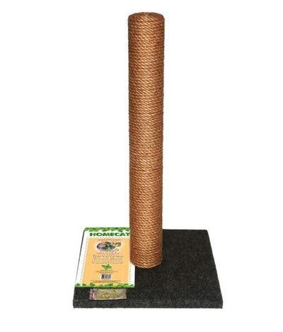 HOMECAT Когтеточка-столбик для кошек МАКСИ 410х410х630мм (ковролин, джут) цвет серый