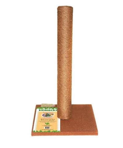 HOMECAT Когтеточка-столбик для кошек МАКСИ 410х410х630мм (ковролин, джут) цвет коричневый НОВИНКА