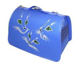 DOGMAN Сумка -переноска Лира №4 Кошки, голубая, 48х30х30см