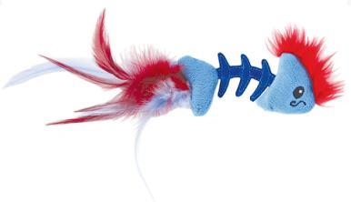 Petstages Игрушка для кошек Play Fish Bone голубая, 11х4х2см (фото)