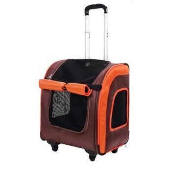 IBBI Тележка-трансформер Liso прямоугольная 40 х 31 х 44 см, коричневая/оранжевая (фото)