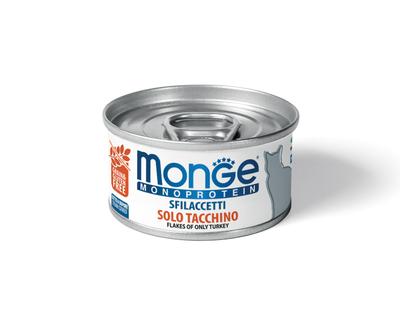 MONGE Cat Monoprotein хлопья для кошек из индейки 80г