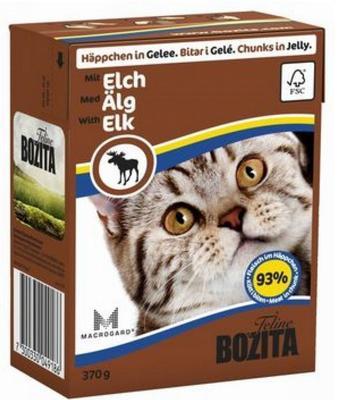 Bozita Консервы для кошек кусочки в желе с мясом Лося 370г