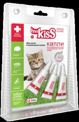 М.Кисс Грин Гард Капли репеллентные для котят и маленьких кошек до 2 кг, 1мл