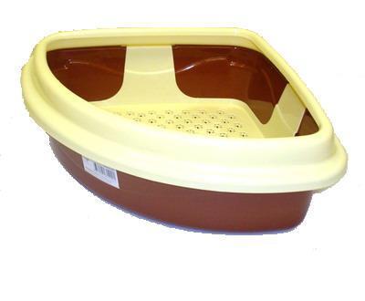 DOGMAN Туалет для кошек Триплекс угловой, 40х40х15см (фото)