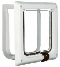 TRIXIE TRIXIE Дверца для кошки 16,5см х 17,4см, с 2 функциями, белая (фото)