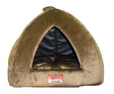 "4 My Pets Домик ""Пирамида"" коричневый, 45х45х40см, плюш"