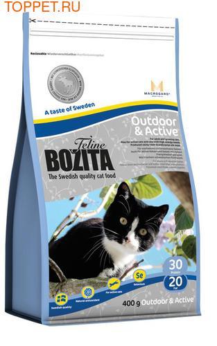 Bozita Корм Для взрослых активных кошек с курицей, лосем, рисом, сух.
