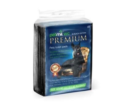 PetMil Пеленки впитывающие одноразовые с суперабсорбентом Premium Black (фото)