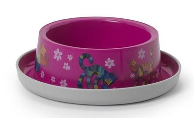 Moderna Friends Forever миска пластиковая нескользящая, ярко-розовая