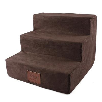 Al1 Лестница - ступеньки для собак, коричневая, 3 ступени, размер 40x38x30 см (фото)