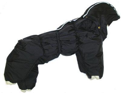 ZooAvtoritet Комбинезон для собак Дутик, черный, размер L, спина 32-36см (фото)