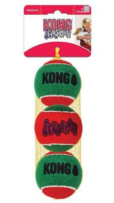 Kong Holiday игрушка для собак Теннисный мячик 3 шт. средние 6 см