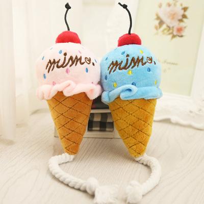 Al1 Игрушка для собак мягкая Мороженое 13см (фото)