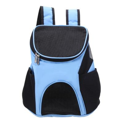 Al1 Рюкзак для собак голубой, размер 33 x 30 x 24см