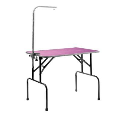 V.I.Pet Стол для груминга Профи складной большой с кронштейном 121*60*75 см, ФИОЛЕТОВЫЙ,