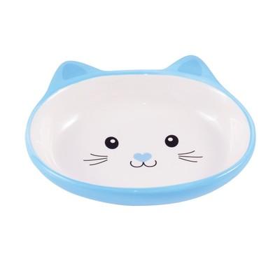 КерамикАрт Миска керамическая для кошек 160 мл Мордочка кошки (фото)