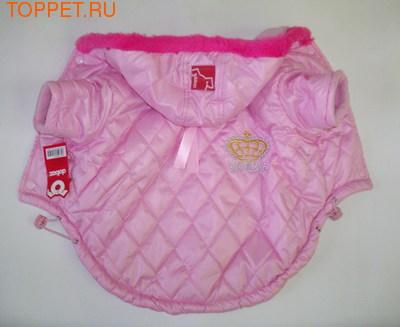 Dobaz Куртка теплая, с капюшоном, розовая, размер XS