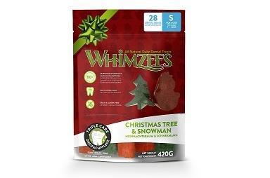 Whimzees Лакомства для собак Новогодний Микс (елочки/ снеговики), в пакете (фото)