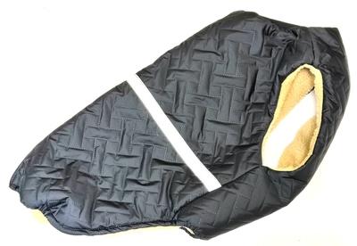 SportDog Куртка-попона меховая для крупных собак, черная, спина 65см (фото)