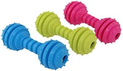 DOGMAN Игрушка для собак Гантель звенящая, 12см (фото)