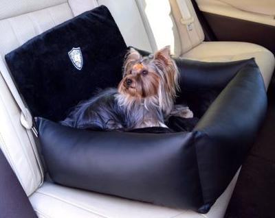 P&D Автокресло для собак из экокожи черное, 45х50х35см