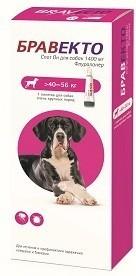 Intervet Бравекто капли спот-он от блох и клещей для собак 40 - 56 кг 1400 мг