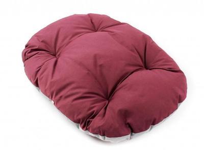 ZooAvtoritet Лежанка-подушка Pufik, размер S, 47х33х7см, бордо/серый (фото)