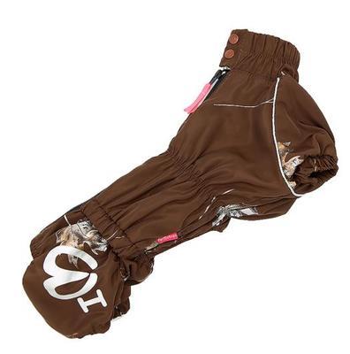 ForMyDogs Комбинезон для такс коричневый, для мальчика, размер ТМ1, флис (фото)