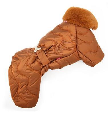 ForMyDogs Комбинезон для собак коричневый, размер 14, 16, для мальчиков (фото)