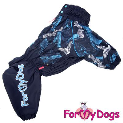 ForMyDogs Дождевик для больших собак синий, модель для мальчиков, размер С1 (фото)